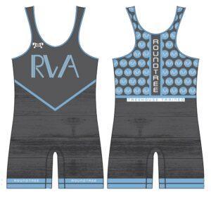 Roundtree Wrestling Academy Custom Grey Singlet