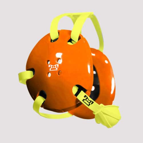 Orange and Yellow Earshot Head Gear