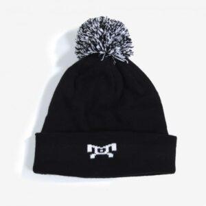 MyHouse Black and White Pom Pom Hat