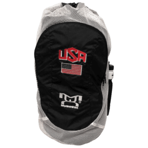 USA Black Embroidered Gear Bag With Water Bottle Pouch