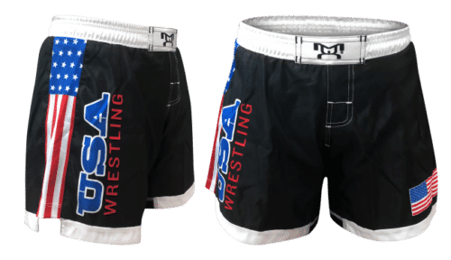 Women's USA Embroidered with sub side panels Shorts