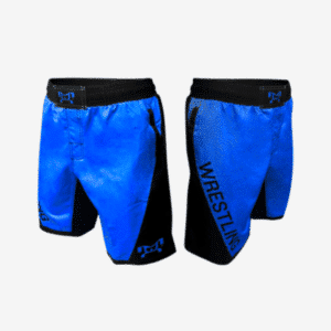 Royal Blue Wrestling Shorts With Pockets