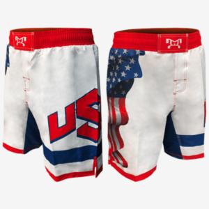 Waving Flag Wrestling Shorts
