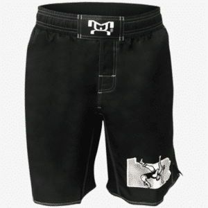 PA Embroidered Black Fight Shorts