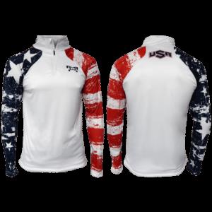 MyHOUSE USA Stars & Stripes Quarter Zip Up - White