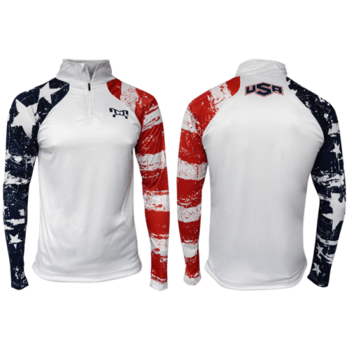 MyHOUSE USA Stars & Stripes Quarter Zip Up - White