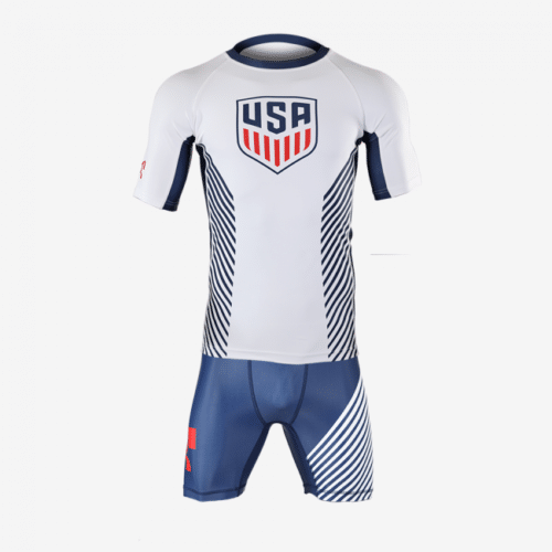 2 Piece MyHouse White Compression Shirt and Navy Shorts