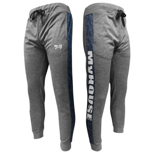 Blue City Joggers - Mens Heathered Box Stripe
