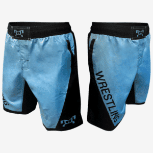 Columbia Blue Wrestling Shorts With Pockets