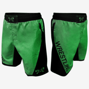 Green Wrestling Shorts With Pockets
