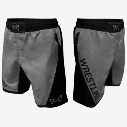 Grey Wrestling Shorts With Pockets
