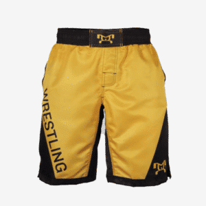 Yellow Wrestling Shorts With Pockets