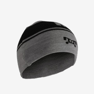 Grey and Black Knit Beanie L