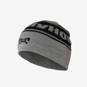 Grey and Black Knit Beanie R