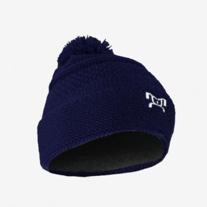 Knit Blue Pom Pom L