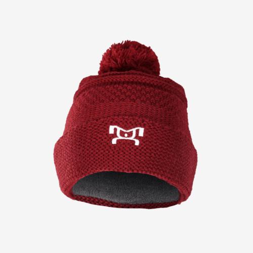 Knit Red Pom Pom F