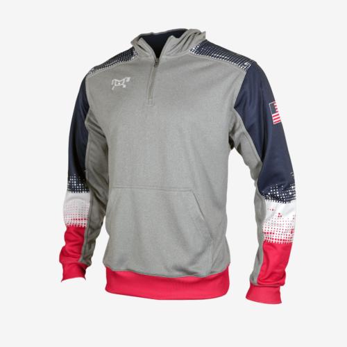 RWB Quarter zip hoodie L