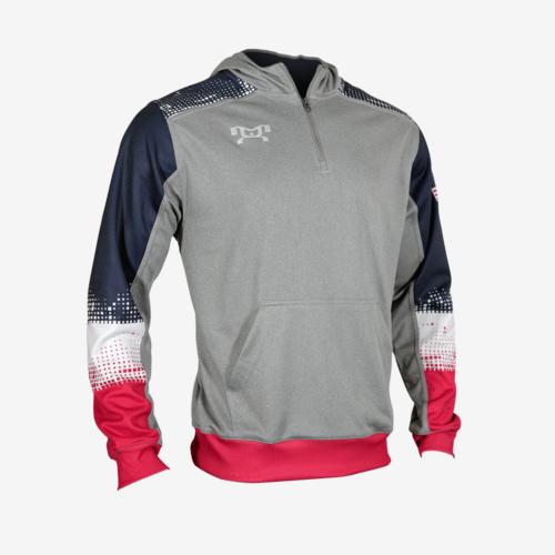 RWB Quarter zip hoodie R