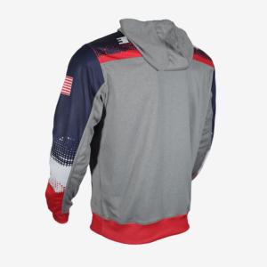 RWB quarter zip hoodie B