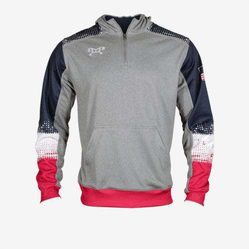 MyHOUSE Red White and Blue Quarter Zip Hoodie