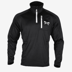 MyHouse Black w/ White Embroidered logo Quarter Zip Pullover