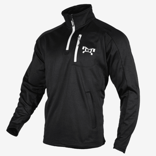 Black quarter zip fleece L