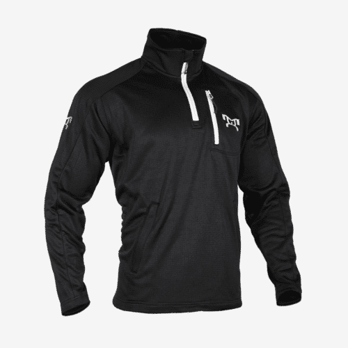 Black quarter zip fleece R