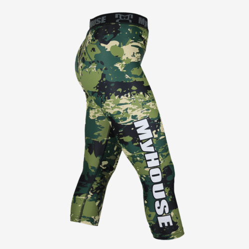 Green Camo Leggings L