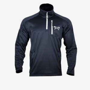 MyHouse Navy Embroidered logo Quarter Zip Pullover