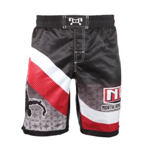 NAWE Sublimated Black Fight Shorts