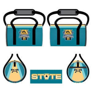 Keystone State Championships Custom Teal Jr Duffel Bag
