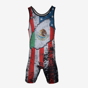 USA Mexico Distressed Flag Singlet