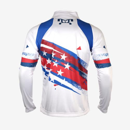 USA White Shooting Star Quarter Zip