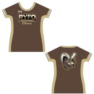 RYFO Cheer Womens Short Sleeve Compression Shirt