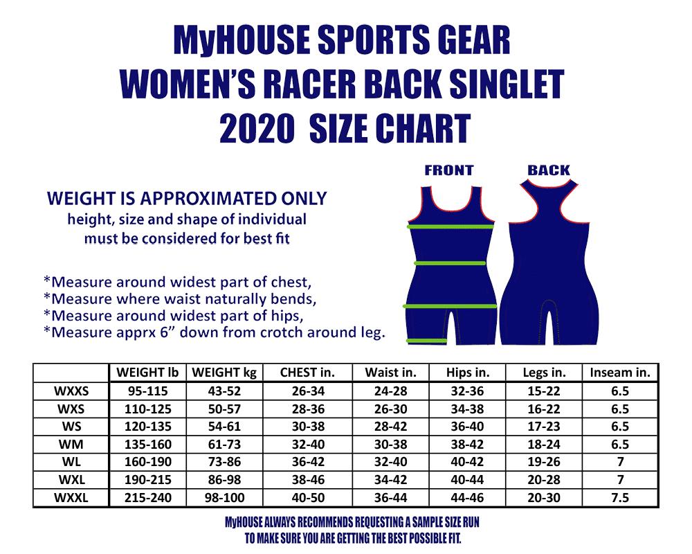 MyHOUSE 2020 Women's Singlet Size Chart_