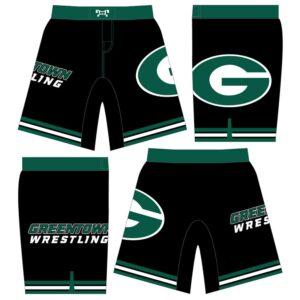 Greentown Wrestling Club Custom Wrestling Fight Shorts