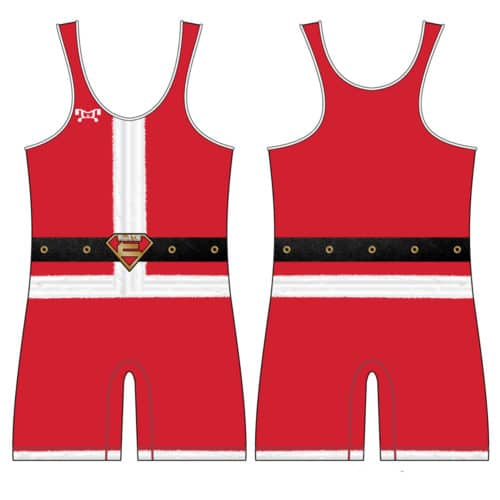 Elite Athletic Club Custom Santa Singlet