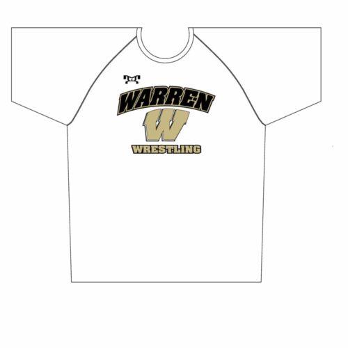 Warren Wrestling Academy Sublimated White Dri-Fit T-Shirt