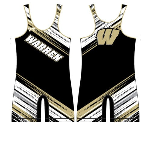 Warren Wrestling Academy Custom Black And Gold Singlet