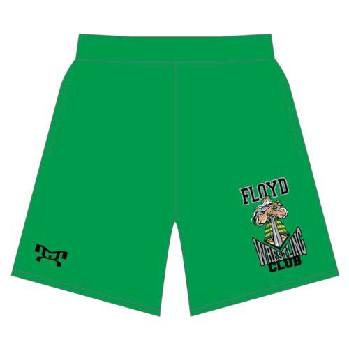 Floyd Wrestling Club Custom Mesh Green Shorts