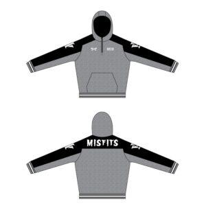 Misfits Wrestling Custom Quarter Zip Hoodie