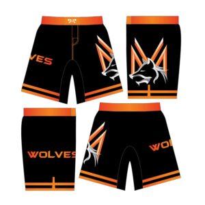 Mid Valley Wolves Custom Black Fight Shorts