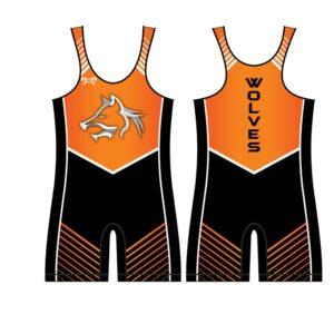 Mid Valley Wolves Custom Mens Orange Wolves Singlet