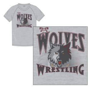 Wolves Wrestling Club Custom Sublimated T-Shirt