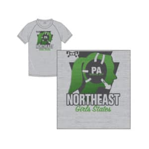 PA Girls Championship Custom Sublimated Northeast Green T-Shirt