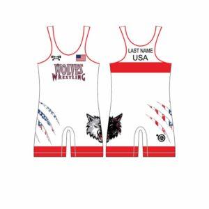 Wolves Wrestling Club Custom Red Men's Singlet