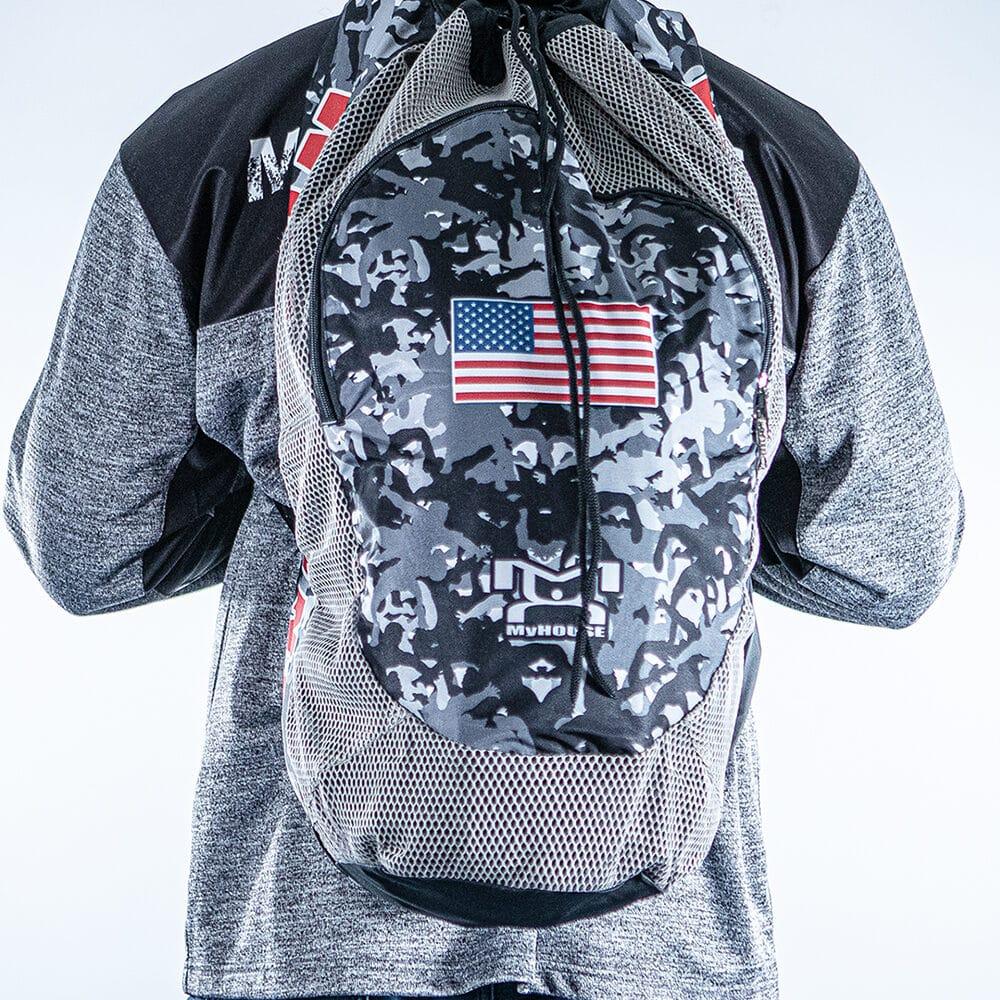 camo gear bag front